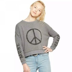 Fifth Sun Peace ☮️ cropped sweatshirt XS